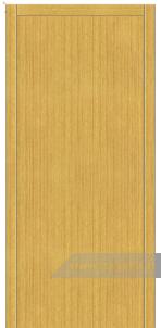 Дверь Глухая «Плоская» Усиленная Шпон вертикальный